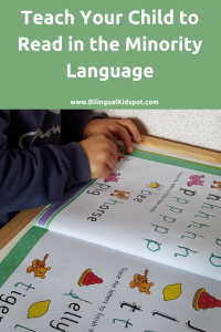 teach child read minority language bilingual kids