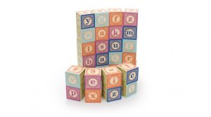 wooden alphabet blocks english- gifts bilingual kids