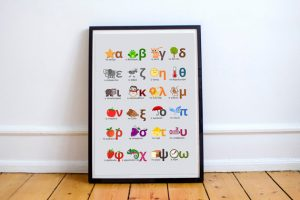 alphabet poster gift idea language learners bilingual kids