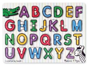 alphabet puzzle gift idea for bilingual kids or language learners