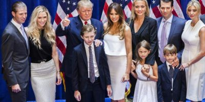 president donald trump multilingual family