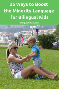 Boost the minority language for bilingual kids
