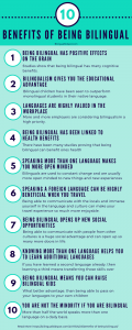 10 Benefits of Being Bilingual Infographic