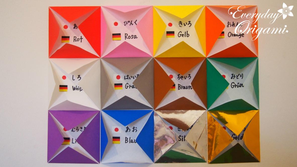 Origami Colour Game Bilingual Kidspot