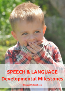 Speech and language developmental milestones for kids