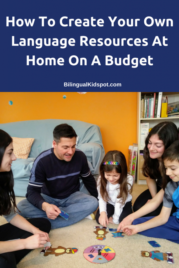 Creating a language classroom at home on a budget