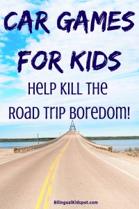Car games for kids to kill the road trip boredom