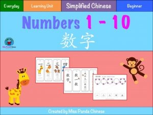 Chinese Numbers - Counting in Chinese