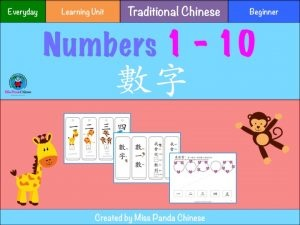 Chinese Numbers - Counting in Chinese Traditional