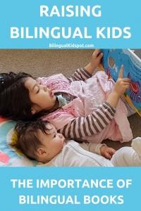 Raising Bilingual Kids reading Bilingual Books