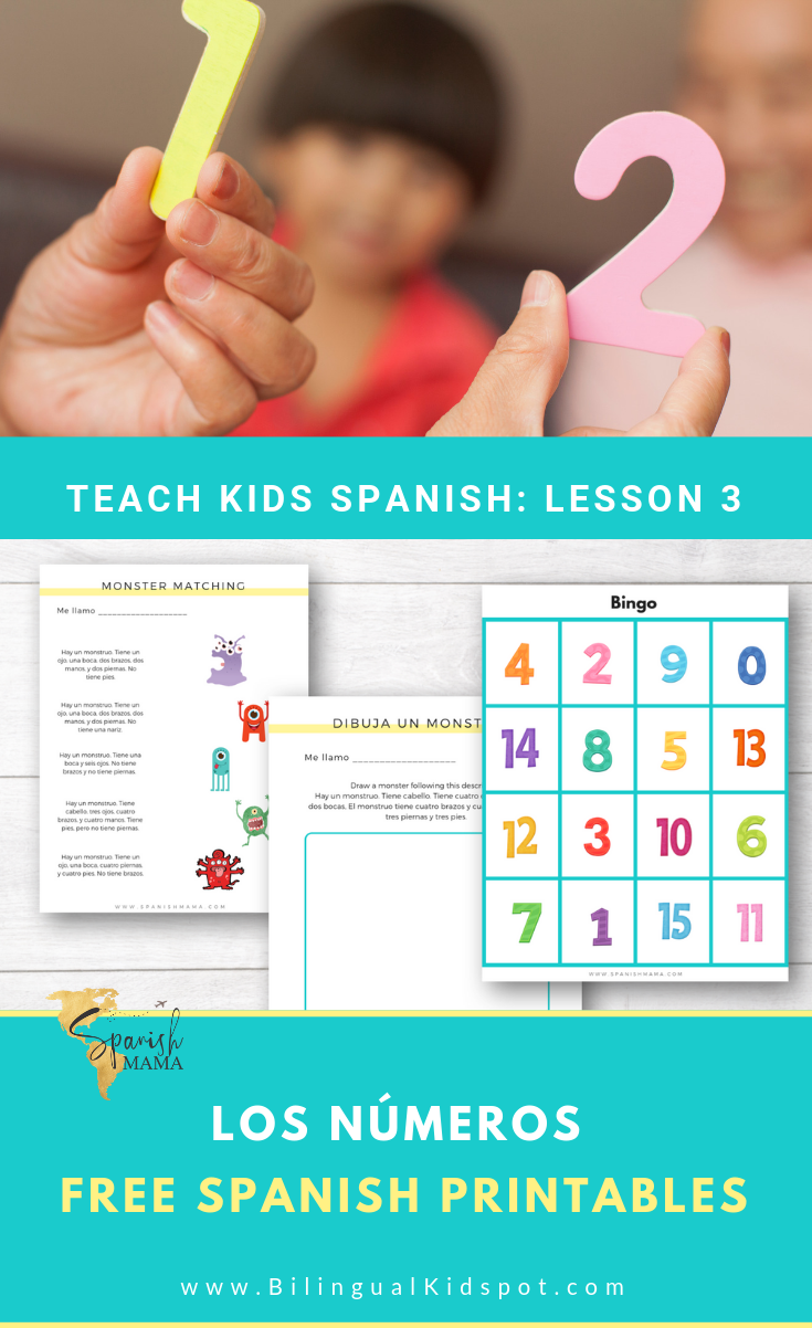 Spanish Lesson 3: Spanish Numbers and Counting in Spanish for Kids