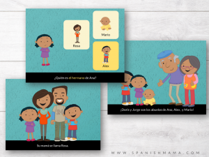 Family members in Spanish activities and printables