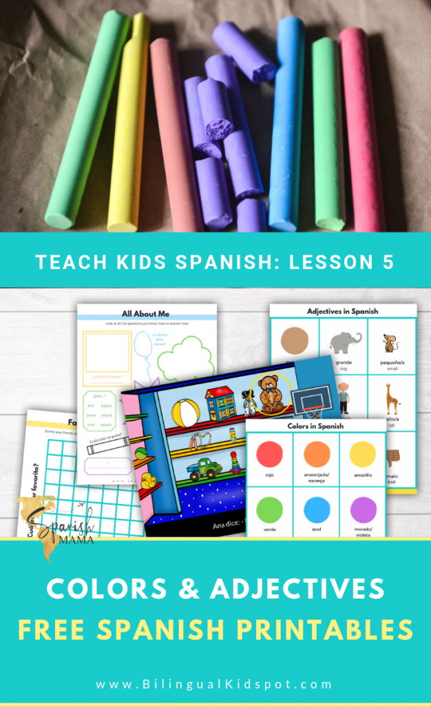 Spanish For Kids: Learn Colors in Spanish