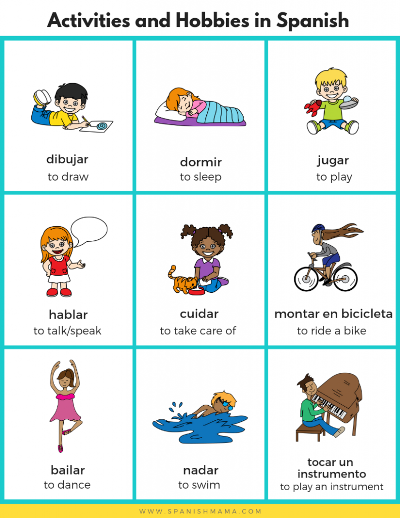 Activities & Sports, Hobbies in Spanish for Kids