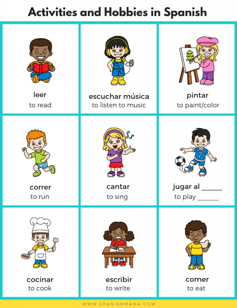 Activities & Hobbies in Spanish for Kids