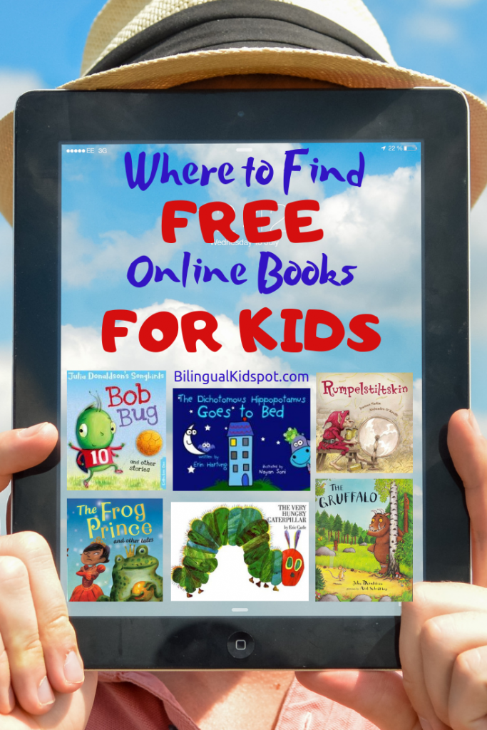 Free Online books for kids pin