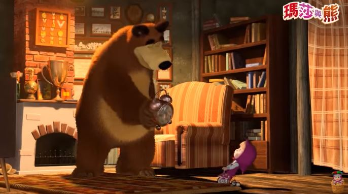 Masha and the Bear Chinese Cartoon for Kids