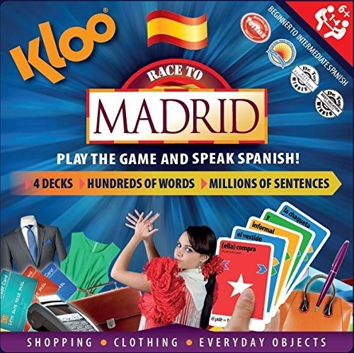 Kloo race to madrid spanish game for kids