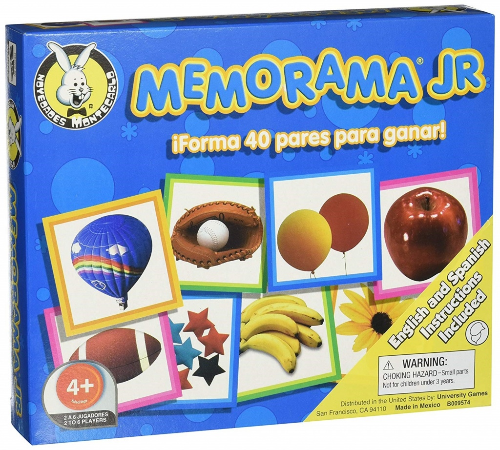 Memorama spanish game for kids