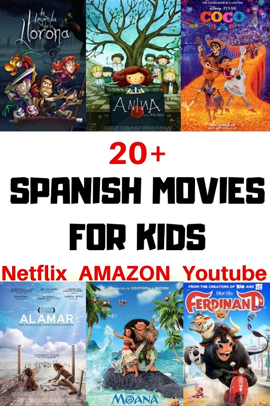 Spanish Movies for Kids on Netflix Amazon Youtube