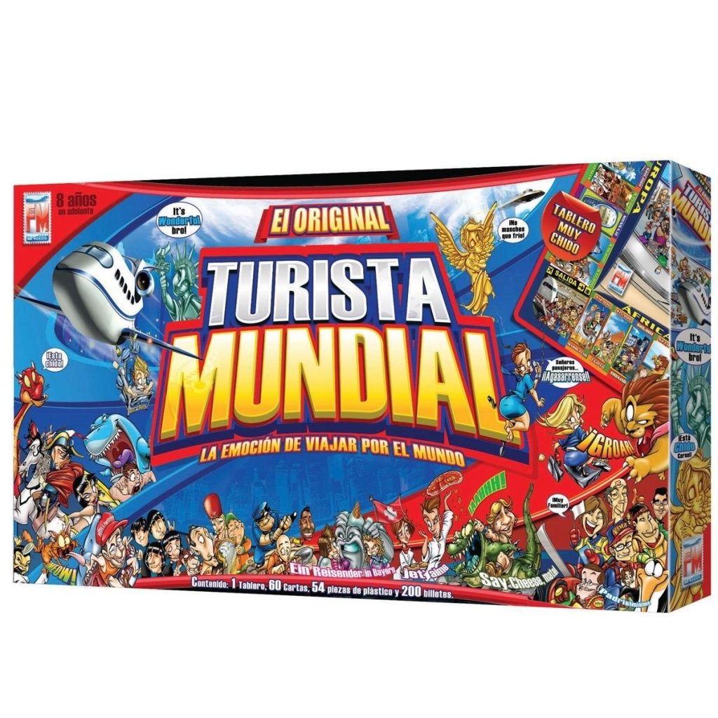 Turista Mondiale Spanish board game for kids