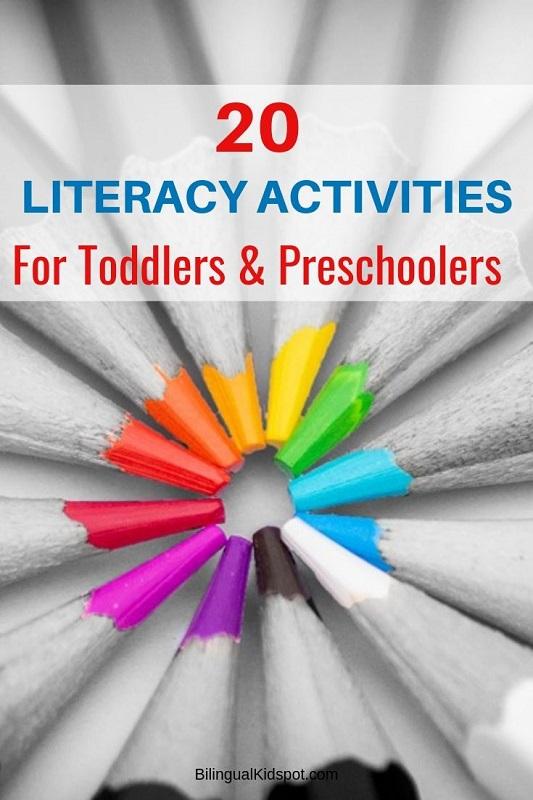 20 Literacy Activities for Preschoolers Kindergarten Kids ...