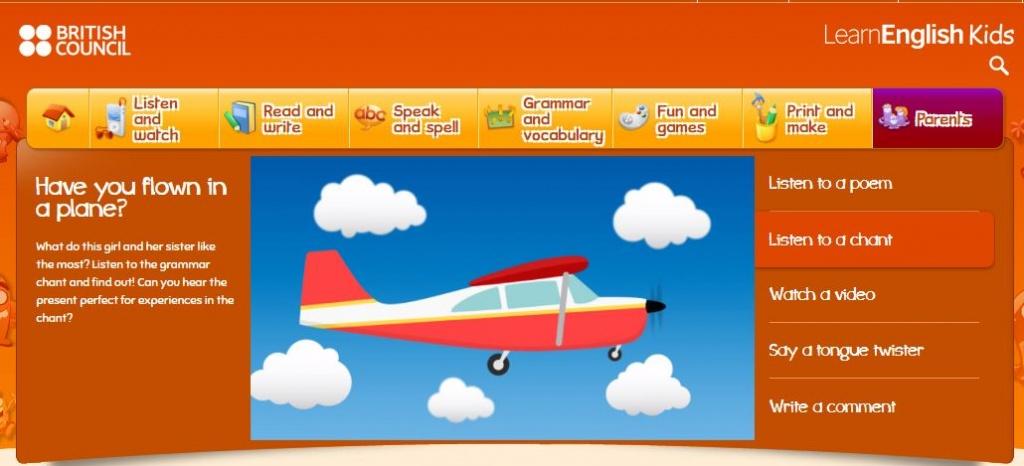 British Council Free ESL website for kids