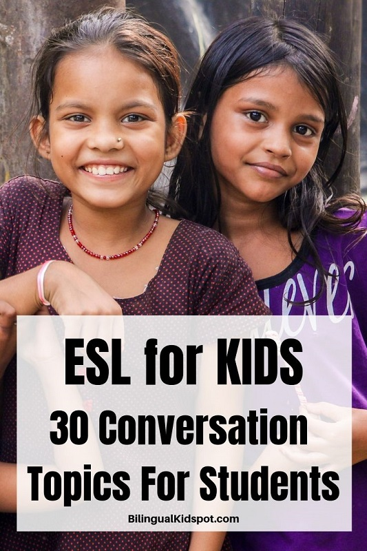 ESL Conversation Topics for Kids and Young Students