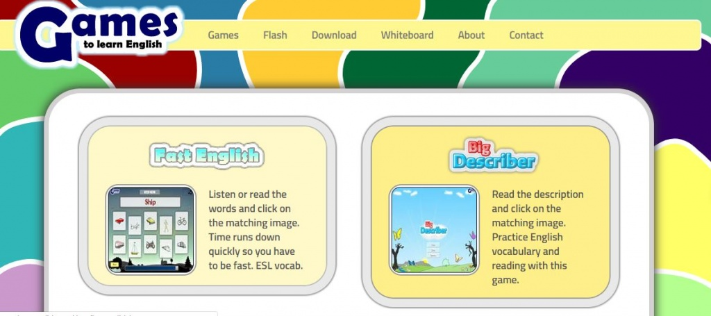 Games to Learn English - ESL website for kids