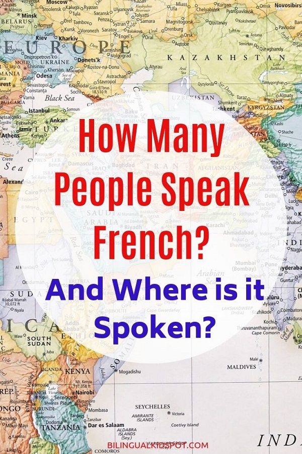 How many people speak French and where is it spoken