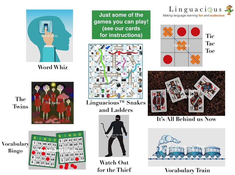 Spanish Games for Kids using Flashcards