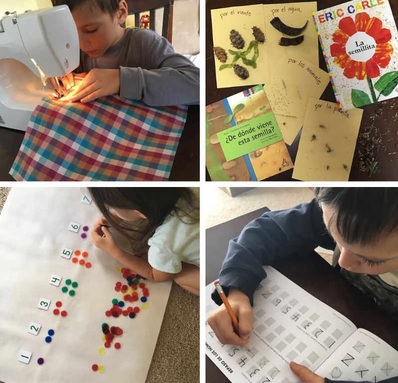 Bilingual Homeschool Activities in Spanish & English