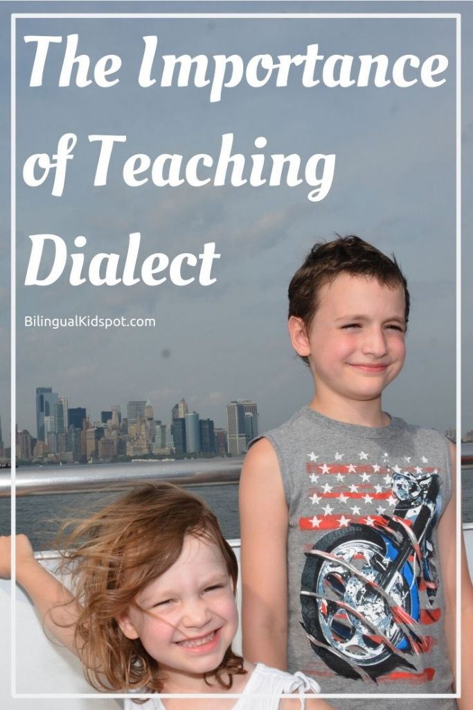 Why we are teaching our kids Dialect