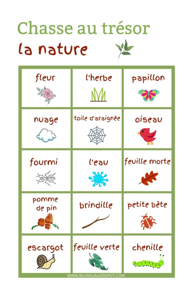 French Scavenger Hunt - Nature