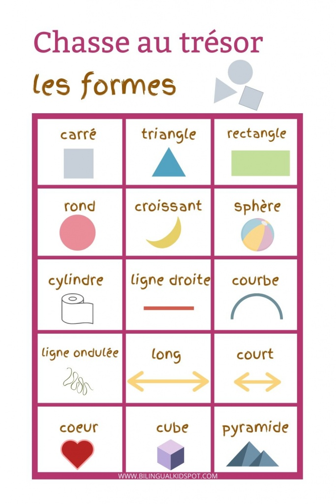 French Scavenger Hunt - Shapes