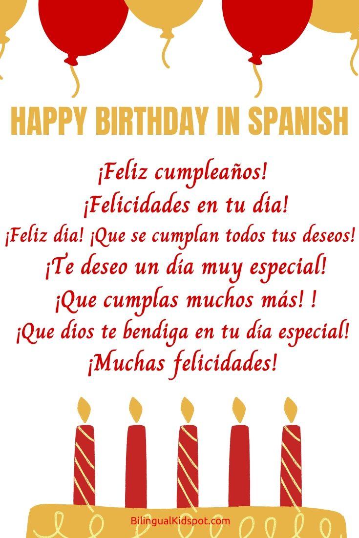 How To Say Happy Birthday In Spanish - Bilingual Kidspot-7110