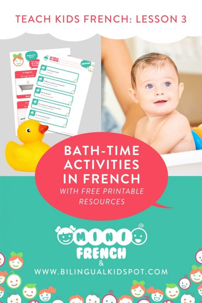 French for Kids - Bath time vocabulary