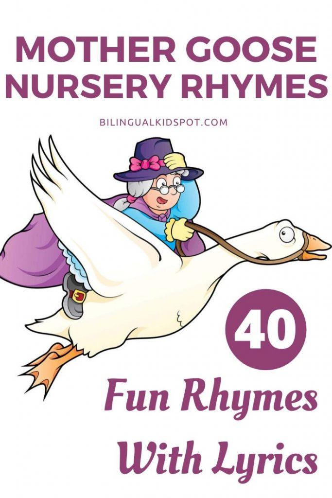 Mother Goose Nursery Rhymes List