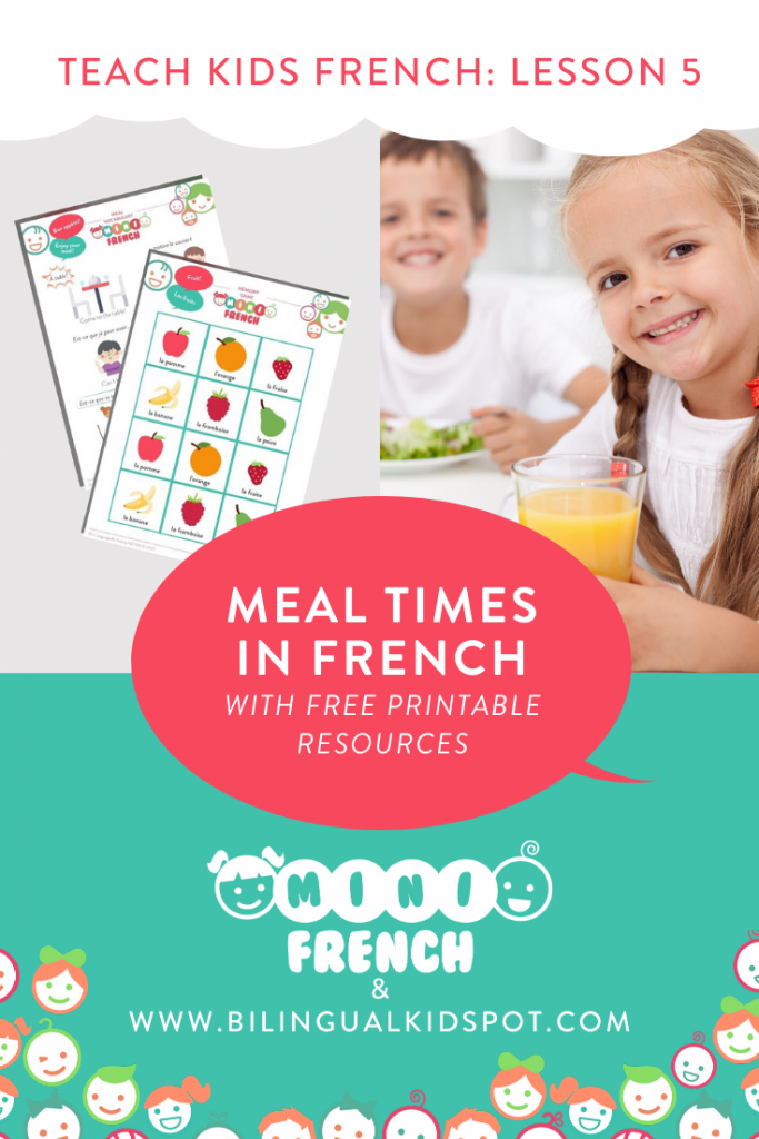 French for Kids Lesson 5: Mealtime in French