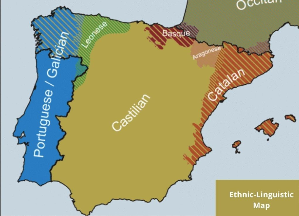 Map of Languages in Spain
