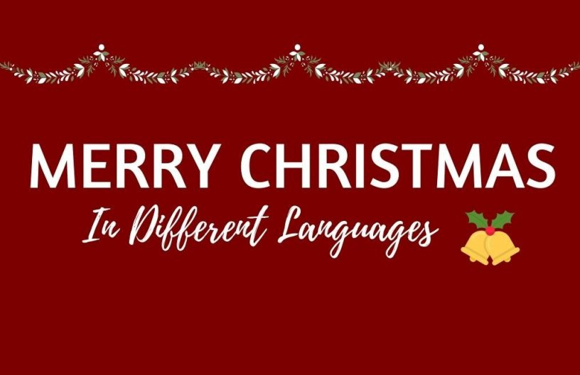 Merry Christmas Different Languages