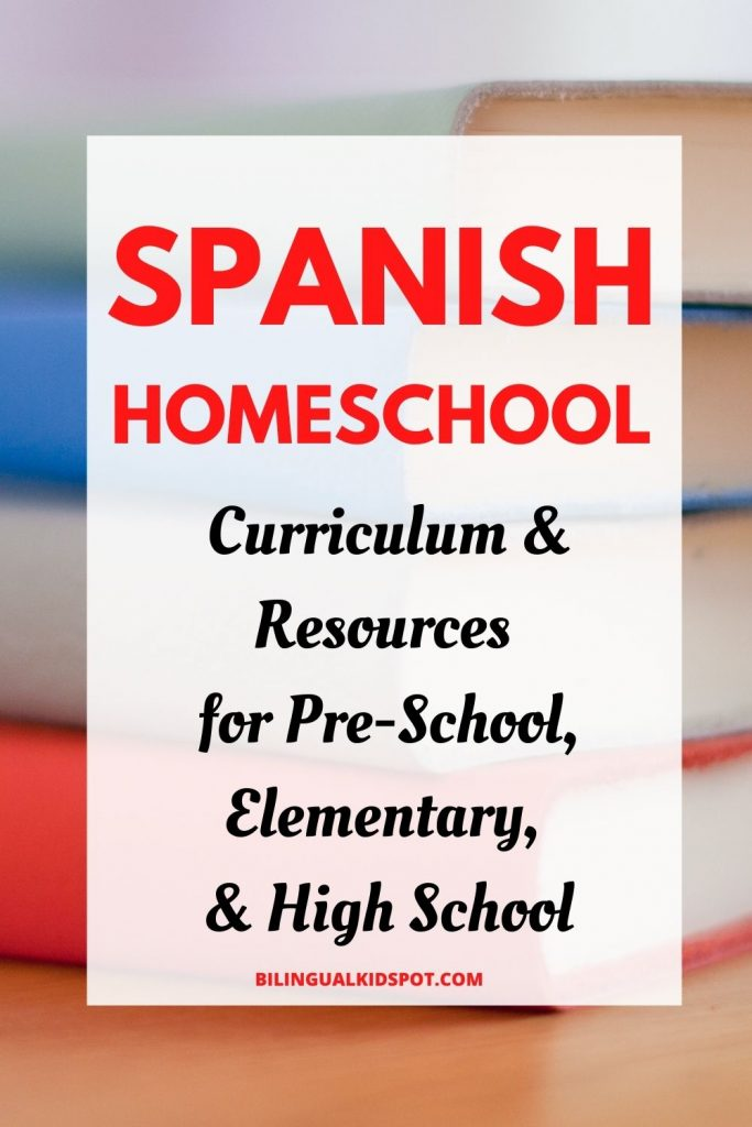 List of Spanish Homeschool Curriculum