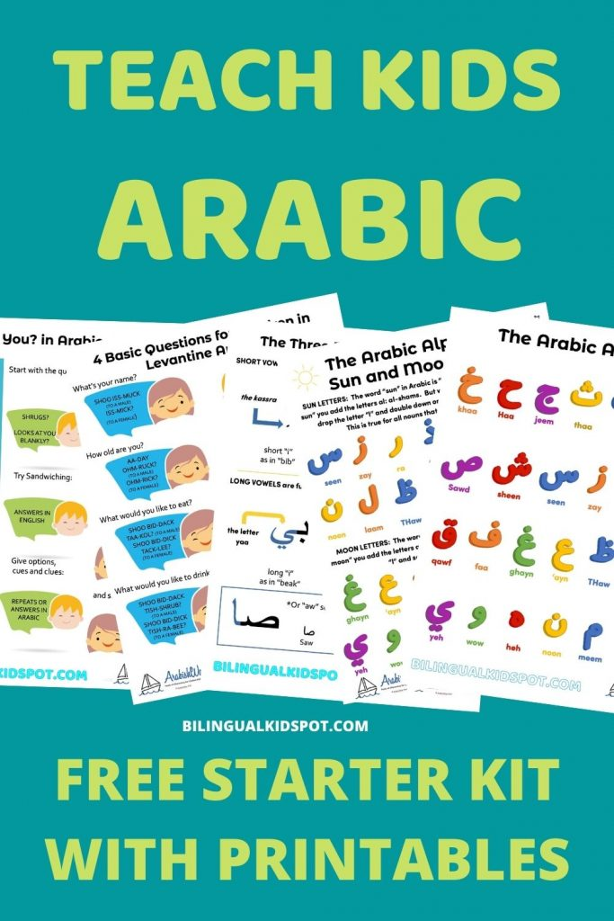 Teach Kids Arabic Starter Kit FREE PRINTABLES