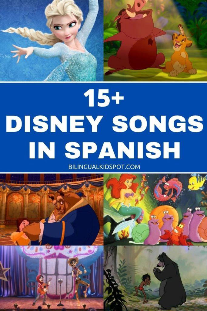 15+ Disney Songs in Spanish - Canciones Disney Español