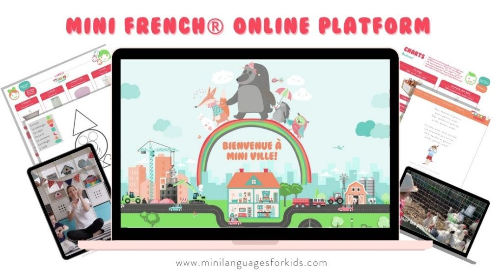Mini Ville Platform Teach Kids French