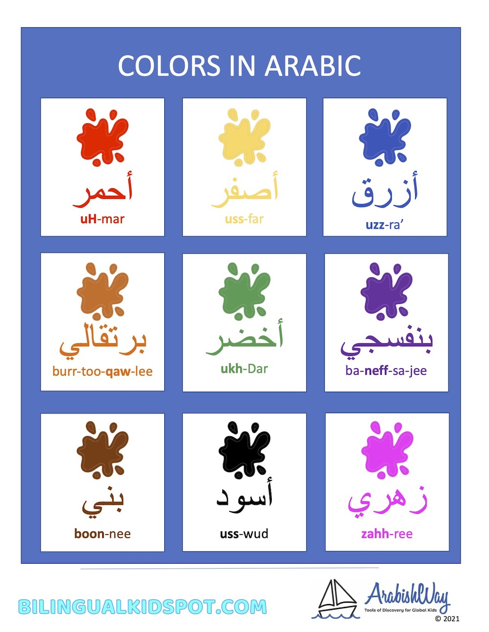 Colors in Arabic for Kids
