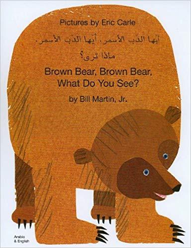 Brown Bear Color Book Bilingual Arabic English